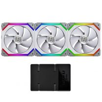 Lian Li SL120 Uni RGB LED 120mm Case Fan (3pcs) - White (With Controller)
