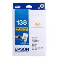 Epson 138 High Cap Bundle Pack 4 Inks+4X6 Gpp