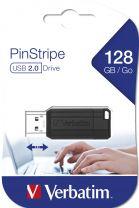 Verbatim PinStripe - USB Drive 128GB Black