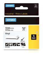 Dymo Industrial Vinyl Labels 12mm Black on White