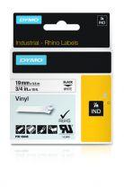 Dymo Industrial Vinyl Labels 19mm Black on White