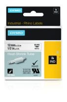 Dymo Industrial Heat-Shrink Tube Labels 12mm White