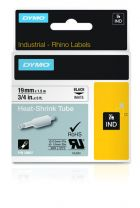 Dymo Industrial Heat-Shrink Tube Labels 19mm White