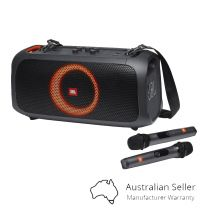 JBL Partybox GO Portable Speaker With Lights And Wireless Microphone - Black