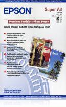 Epson Premium Semigloss Photo Paper, DIN A3+, 250g/m2, 20 Sheets