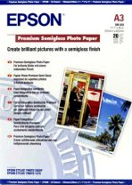 Epson Premium Semigloss Photo Paper, DIN A3, 251g/m2, 20 Sheets