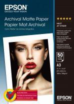 Epson Archival Matte Paper, DIN A3, 189g/m2, 50 Sheets