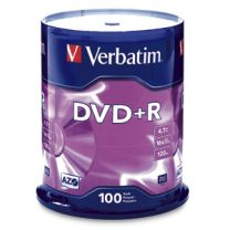 Verbatim DVD+R 4.7GB 16X Branded 100pk Spindle 100 pc(s)