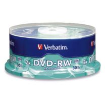 Verbatim DVD-RW 4.7GB 2X Branded 30pk Spindle 30 pc(s)