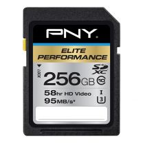 PNY 256GB Elite Performance SDXC Memory Card UHS Class 10