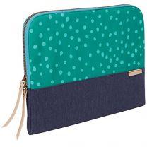 "STM Grace Notebook Case 15"" Sleeve Green, Navy"