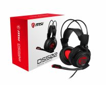 MSI DS502 7.1 Virtual Surround Sound Gaming Headset - Black with Ambient Dragon Logo