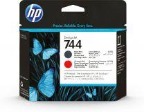HP 744 Matte Black/Chromatic Red DesignJet PrintHead