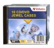Verbatim CD/DVD Jewel Cases 1 Discs Transparent