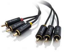 Alogic Premium 15m 3 RCA to RCA 3 Composite Cable - Male to Male