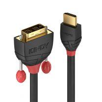 Lindy Video Cable 0.5m HDMI Type A (Standard) DVI-D Black