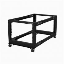 "Startech 8U 4-Post Open 22-40"" Adjustable Depth Frame Server Rack"