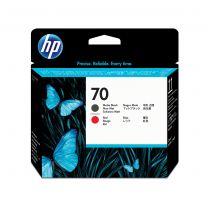 HP 70 Matte Black and Red DesignJet PrintHead