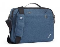 """STM Myth Notebook Case 15"""" Briefcase Black, Blue"""