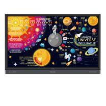 "Benq RP7501K 75"" Education Interactive Flat Panel Multi-Touch Multi-User Display -  Black"