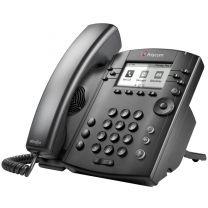 Poly VVX 311 Desktop Phone Skype/Lync POE IP Black Wired Handset 6 lines LCD