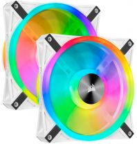 Corsair QL140 140mm RGB LED Fan White Dual Pack