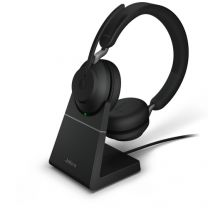 Jabra Evolve2 65 UC Stereo USB-C Bluetooth Headset with Charging Stand