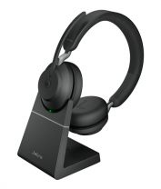 Jabra Evolve2 65 MS Stereo USB Bluetooth Headset with Charging Stand