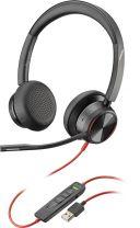 Polycom Blackwire 8225 Headset Head-band Black USB Type-A