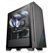 Thermaltake H330 Midi Tower ATX Tempered Glass Computer Case - Black