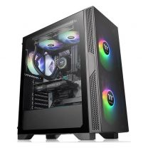 Thermaltake Versa T25 Midi Tower ATX Tempered Glass Computer Gaming Case Black
