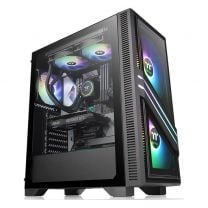 Thermaltake Versa T35 RGB Midi Tower Computer Case ATX Tempered Glass Gaming Black