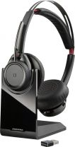 Plantronics Voyager Focus UC Headset Head-band Bluetooth - Black (With Stand)