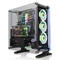 Thermaltake DistroCase 350P Midi Tower Tempered Glass ATX Computer Case - Black
