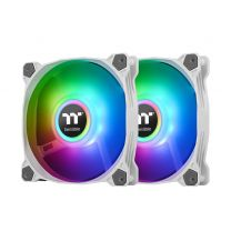 Thermaltake Pure Duo 12 ARGB 120mm Sync Fan With Controller 2-Pack - White