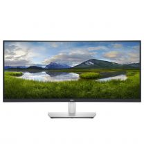 "Dell 34.1"" Quad HD LCD Curved Monitor Black, Silver"
