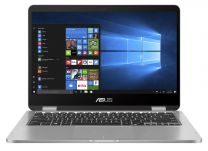 "Asus VivoBook S14 Notebook Hybrid (2-in-1) 14"", Touchscreen Celeron N4020, 4GB, 128GB eMMC, Windows 10 Pro - Grey"