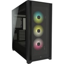 Corsair iCUE 5000X RGB Tempered Glass ATX Midi Tower Computer Case - Black