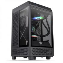 Thermaltake The Tower 100 Mini Micro-ITX Tempered Glass Computer Gaming Case Black