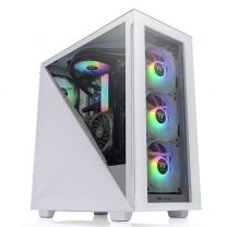 Thermaltake Divider 300 ATX Tempered Glass Snow ARGB Midi Tower - White