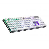 Cooler Master Gaming SK653 White Edition Keyboard RF Wireless + Bluetooth QWERTY US English RGB - Brown Cherry