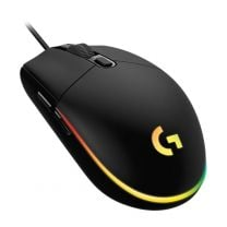 Logitech G203 LightSync RGB Color Wave Optical Gaming Mouse - Black