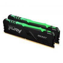 Kingston  Fury Beast RGB 32GB 2x16 DDR4-2666 Memory Module