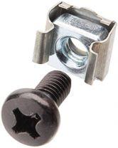 Astrotek M6 Cage Nuts & Screws 1pc Pack Black