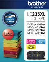 Brother LC-235XL Value Pack Cyan/Magenta/Yellow