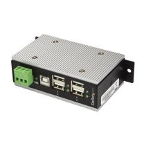 Startech 4-Port Industrial USB Hub - USB 2.0 - 15kV ESD Protection