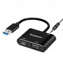 Simplecom DA316A USB to HDMI + VGA Video Card Adapter