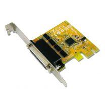 Sunix PCIE 4Port Serial RS-232 Card Low Profile