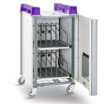 LapCabby 10-Device Vertical Mobile AC Trolley