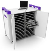 LapCabby 32-Device Mobile AC Charging Trolley